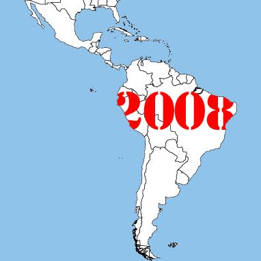 in 2008 in Latijns Amerika